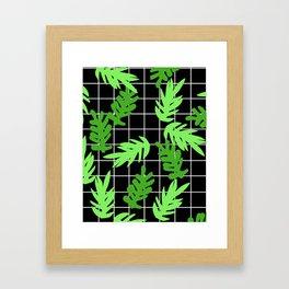 Leif - pattern grid minimal leaf repeating pattern hipster minimal iphone6 case for gender neutral  Framed Art Print