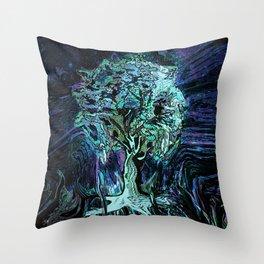 Starry Night Tree of Life Throw Pillow