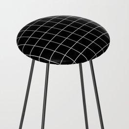 Grid Simple Line Black Minimalist Counter Stool