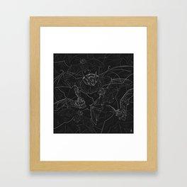 Bat Attack Framed Art Print