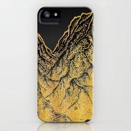 "遠望 series -""Gold Valley"" - Linocut iPhone Case"