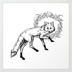 Fox King Art Print