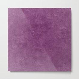 Wood Violet Oil Pastel Color Accent Metal Print