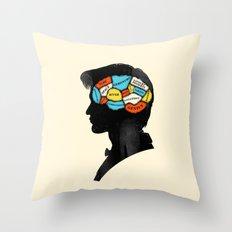 Doctor Phrenology Throw Pillow