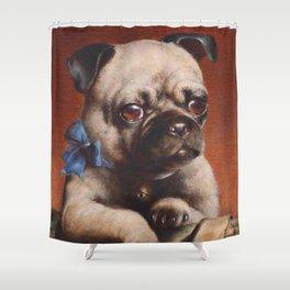 The Pug - Carl Reichert Shower Curtain