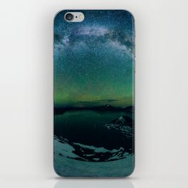 Galactic Rainbow over Crater Lake iPhone Skin