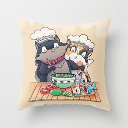 Little Chefs Throw Pillow