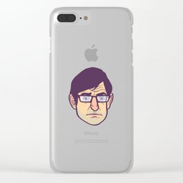 Louis Theroux Animasi Clear iPhone Case