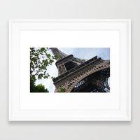 eiffel tower Framed Art Prints featuring Eiffel Tower  by Françoise Reina