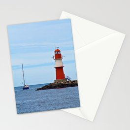 lighthouse Ostmole Warnemünde Stationery Cards