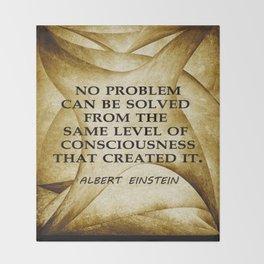 No Problem... Albert Einstein Throw Blanket