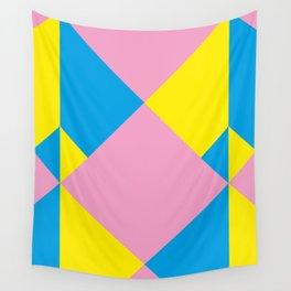 Cool polygons, and squares, and things that looks 3d but they aren't, and tiny mistakes in R corner. Wall Tapestry