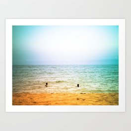 In the sea. Art Print