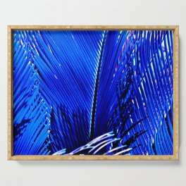 Sapphire Palm Serving Tray