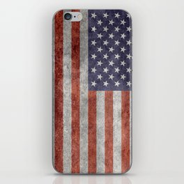 Flag of the United States of America - Vintage Retro Distressed Textured version iPhone Skin