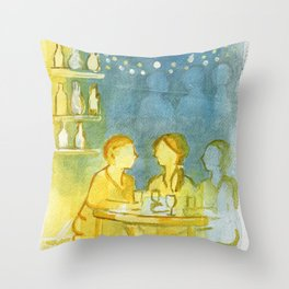 Barcelona Nights Throw Pillow