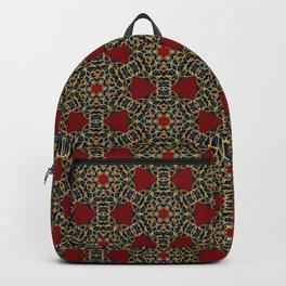 Gorgeous Geometric Beadwork Pattern Backpack