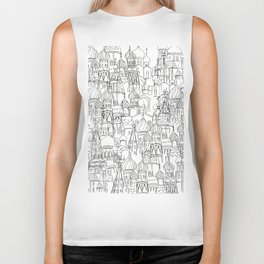 Russian cathedral church line drawing Biker Tank
