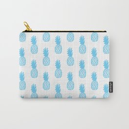 Light Blue Pineapple Carry-All Pouch
