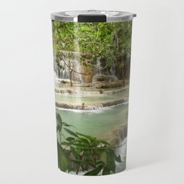 Zen Waterfalls Harmony #2 Travel Mug