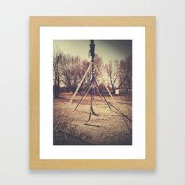 swingset Framed Art Print