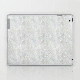White Apophyllite Close-Up Crystal Laptop & iPad Skin