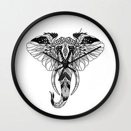 ELEPHANT head. psychedelic / zentangle style Wall Clock