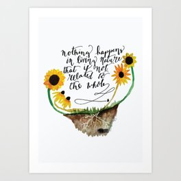 Bee connected Art Print