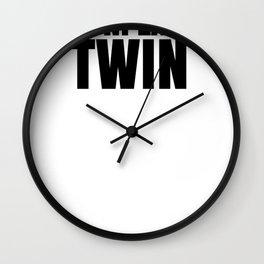 Fun Twins The Unplanned Twin Wall Clock