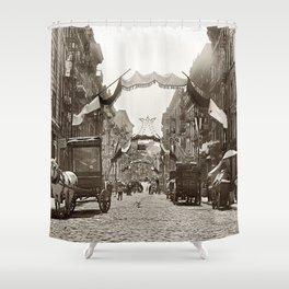 Little Italy Mott Street NYC Photograph (1908) Shower Curtain