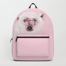 Polar Bear in Pink Backpack