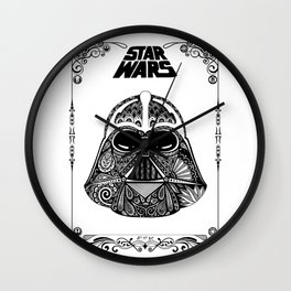 Dark Vador (with frame) Wall Clock