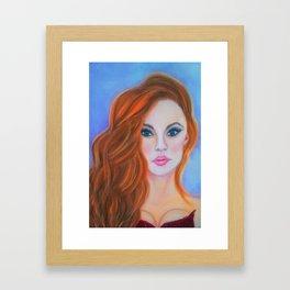 Glamorous Redhead Jessica Rabbit Framed Art Print