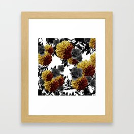 CAFFEINE FLOWERS Framed Art Print