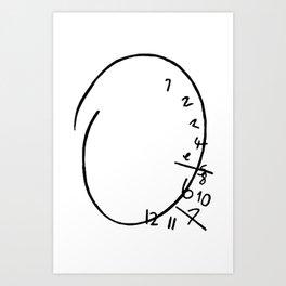 Nbc Hannibal - clock Art Print