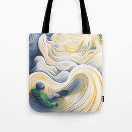Snowboader in a 'Pillow Paradise' Tote Bag