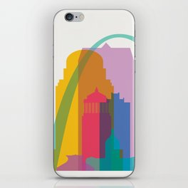 Shapes of St. Louis. Accurate to scale iPhone Skin
