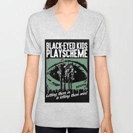 BLACK-EYED KIDS PLAYSCHEME Unisex V-Neck