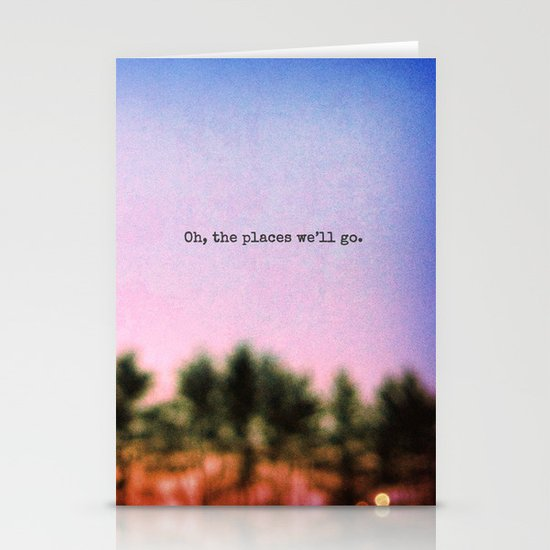 Oh, the Places We'll Go Stationery Cards