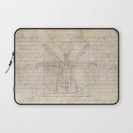 Da Vinci's Real Screw Invention Laptop Sleeve