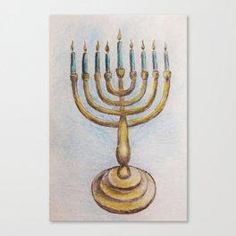Hanukkiah MM180920a Canvas Print