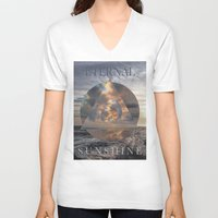 eternal sunshine V-neck T-shirts featuring ETERNAL by ulas okuyucu