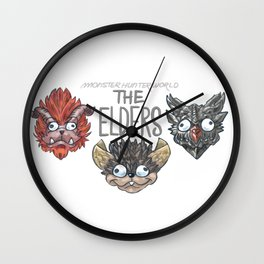 Monster Hunter World Elder Dragons Wall Clock