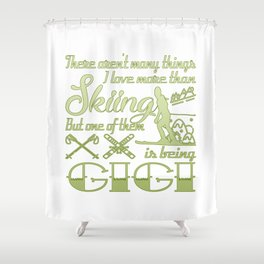 Skiing Gigi Shower Curtain
