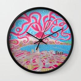 NapoliVesuvioOctopus Wall Clock