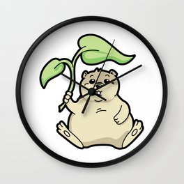 Little Chubby Happy Gopher Shading Itself Wall Clock