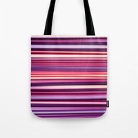 striped Tote Bags featuring Striped by Scarlet