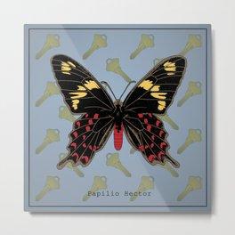Papilio Hector Metal Print