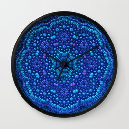Mandala by Moonlight Wall Clock