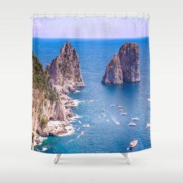 Capri Faraglioni Shower Curtain